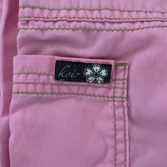 Pink Koi small regular scrub pants